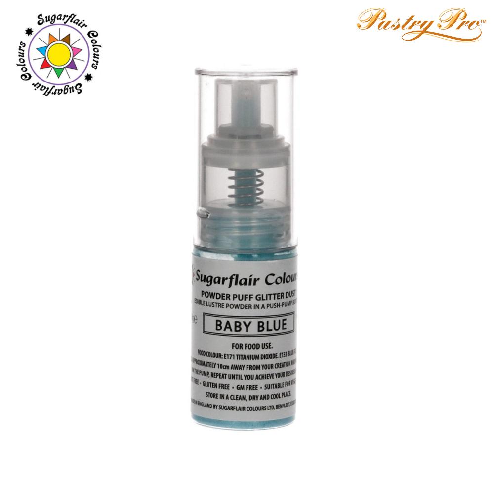 Sugarflair, Pump Spray Glitter Dust Powder, Baby Blue