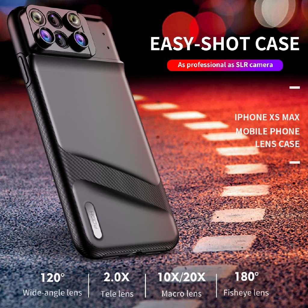 sports shoes 3f489 30e35 Camera Lens Kit for iPhone XS Max Fisheye Macro Wide Angle lens Camera Lens  case
