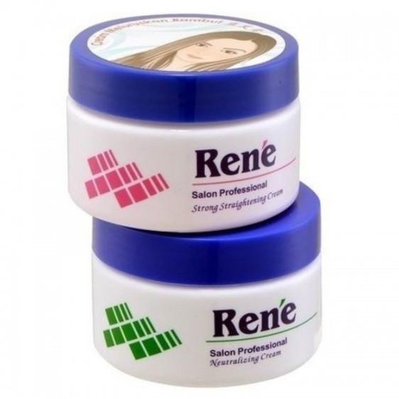 Rene Hair Strong Straightening Cream 120ml + Neutralizer Cream 120ml