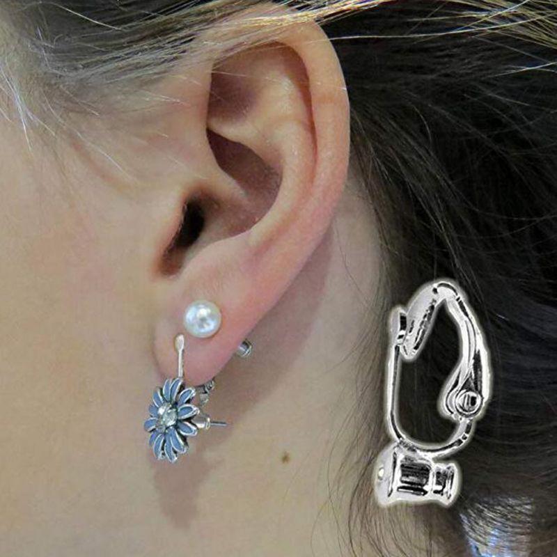 20x Clear Plastic Earring Pad Clip Earring Cushions For No-Pierced Clip Earrings