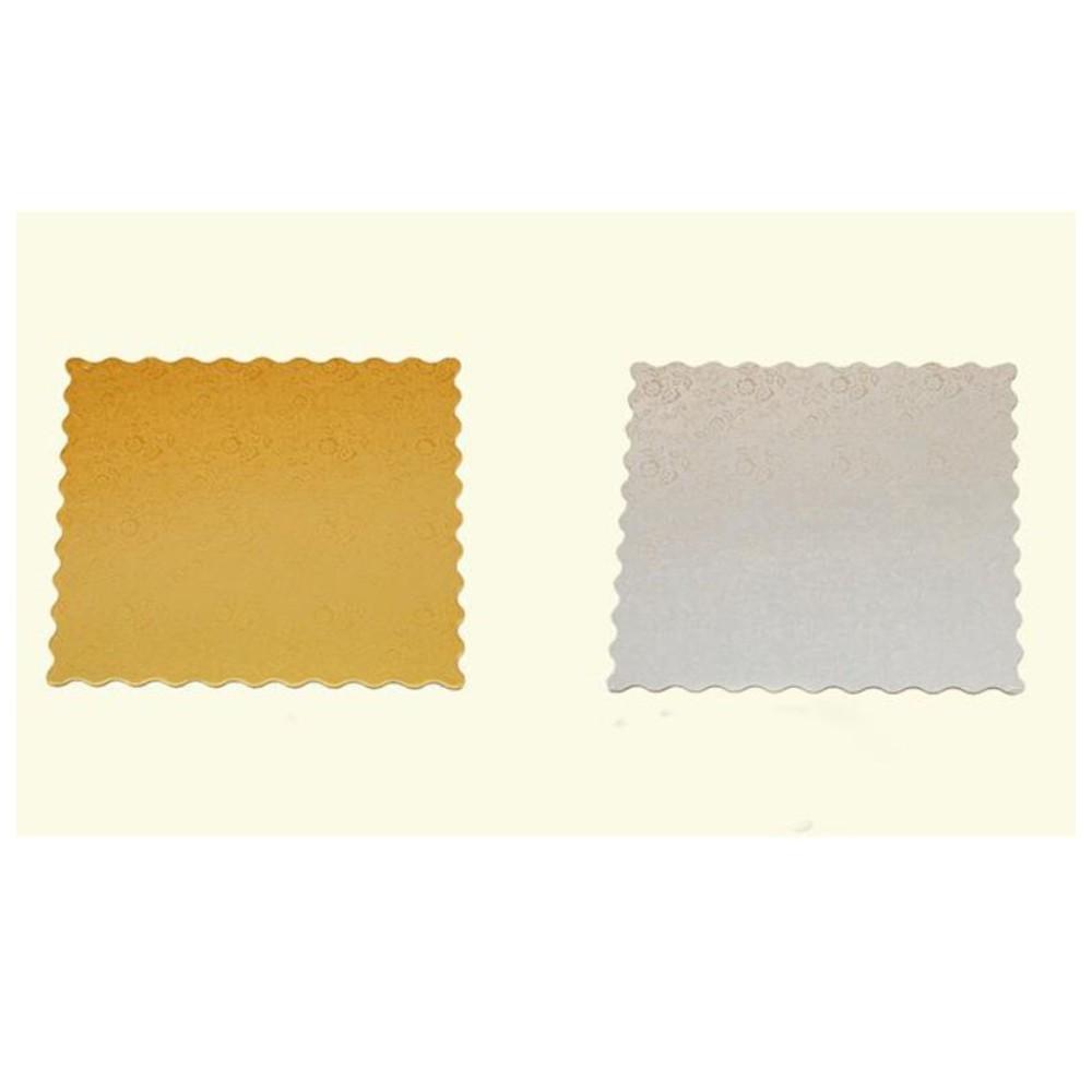 3pcs Cake Boards/ Square Scalloped Cake Base Cardboard