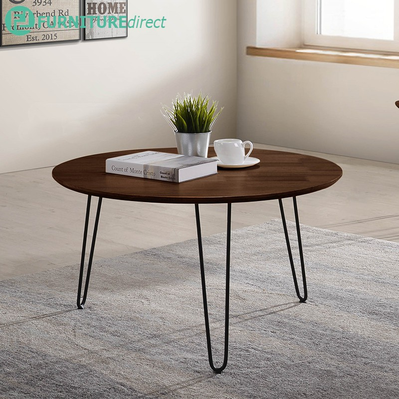Furniture Direct NARAKA solid wood top occasional coffee table and side table set-2 color