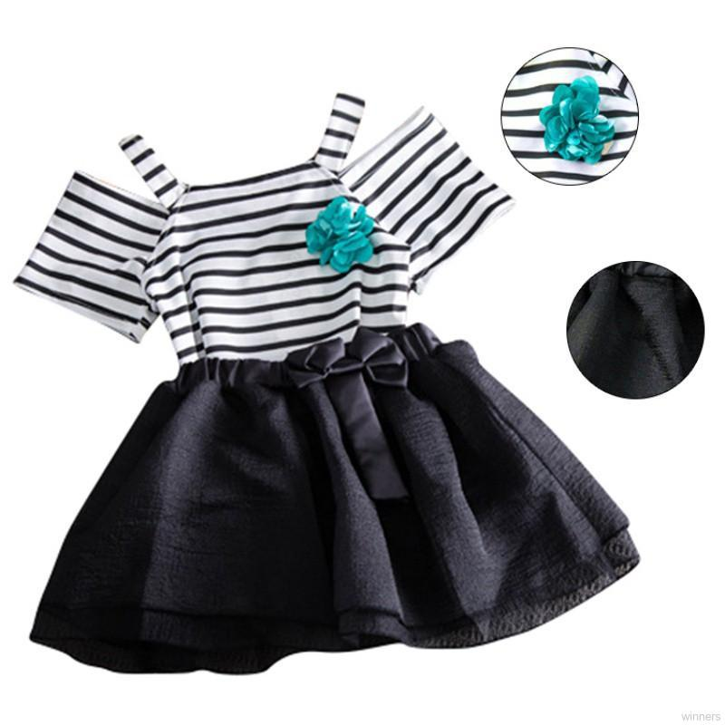 b14061be8 Toddler Kids Baby Girls Summer Clothes T-shirt Tops +TUTU Dress Outfits  2pcs Set