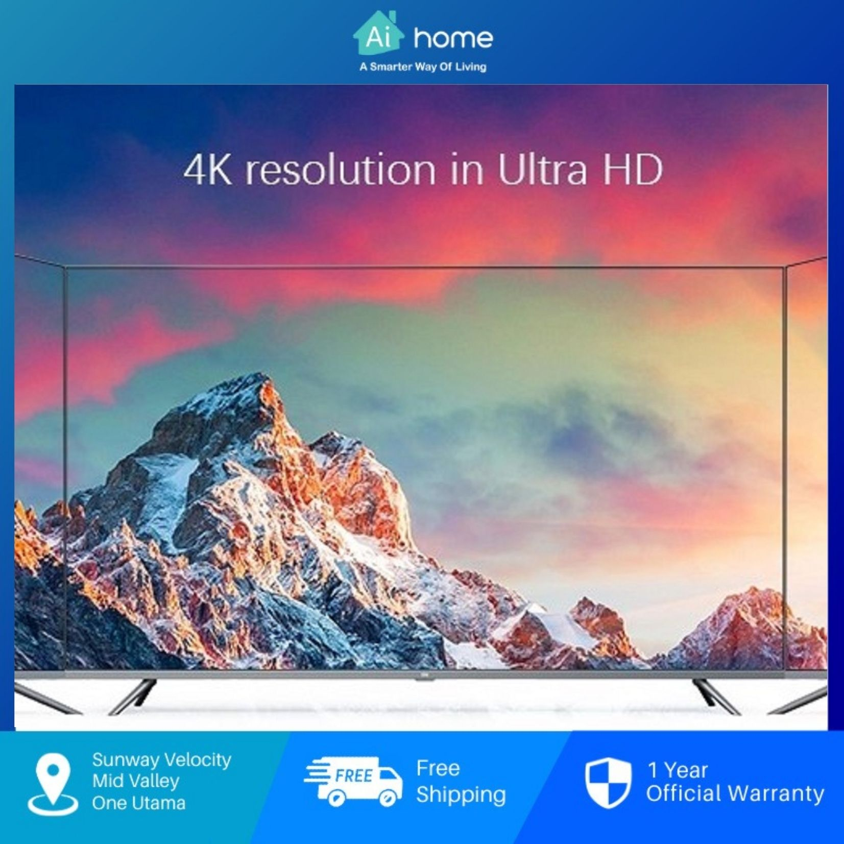 """XiaoMi LED Smart TV E65X 65"""" 4K Ultra HD [ CN Version ] - Dolby Audio    DTS HD   PatchWall [ Aihome ]"""