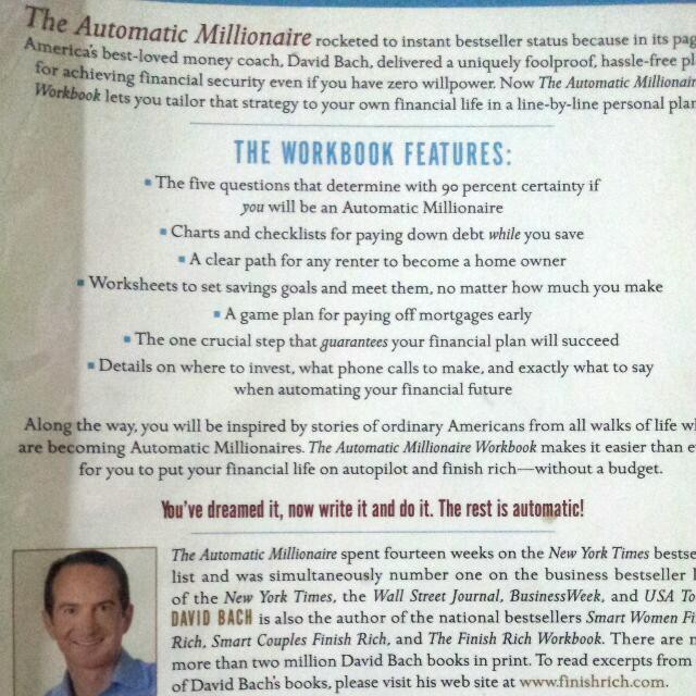 The Automatic Millionaire Workbook By David Bach | Shopee