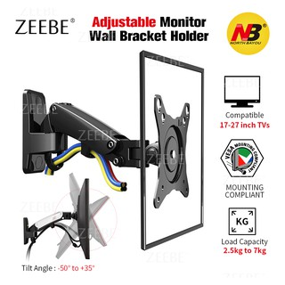 ZEEBE Adjustable TV PC Monitor Wall Bracket Holder Mount fit 17-27 inch  NB-F120