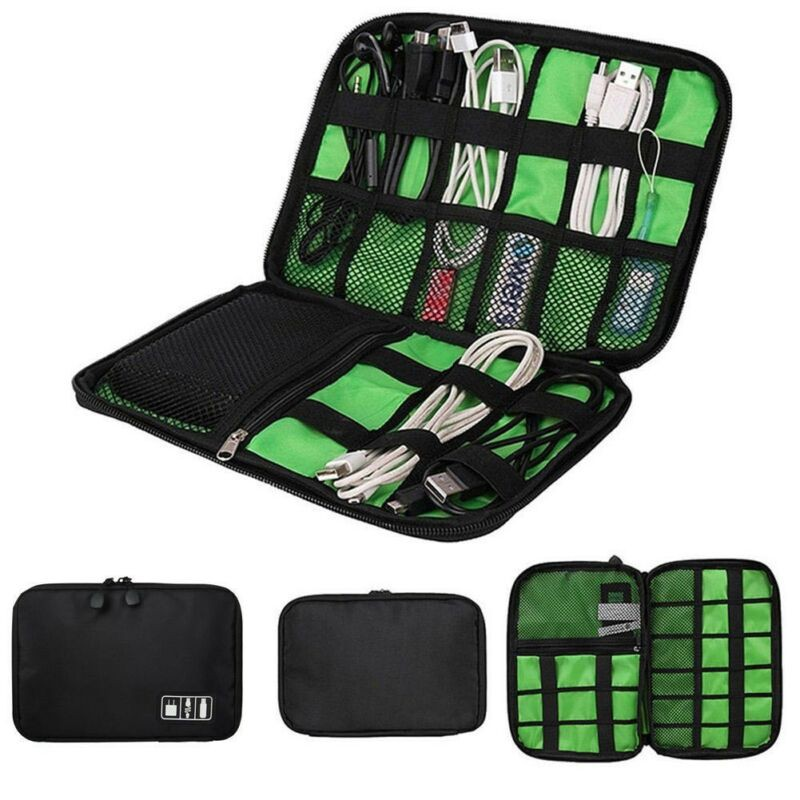 Tranquillt Electronic Accessory Cable USB Drive Organizer Storage Bag Travel Case Bag