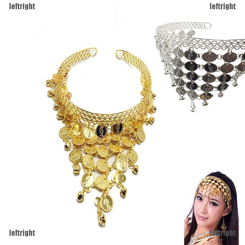 Belly Dance Hair Band Costume Dancing Coin Sequins Headband