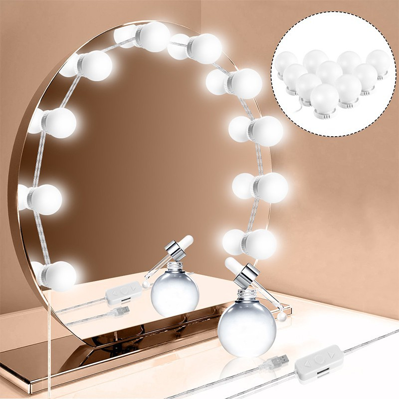 Hollywood Dressing Mirror 10 Led Light