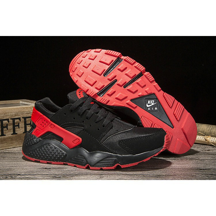 info for 46eaa 0dec1 Nike Air Huarache Womens Running Black Red 1844387592