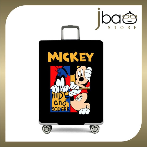 D.Beaner Elastic Travel Luggage Suitcase Protector Cover Mickey Mouse