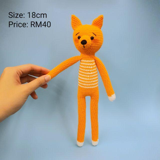 Crochet girl Fox toy. FOX STUFFED ANIMAL. Fox Crochet. Toy Plush ... | 640x640