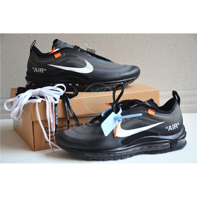 Top Quality Nike Air Max 97 x OFF White BlackWhite Breathable Running Shoes AJ4585 001