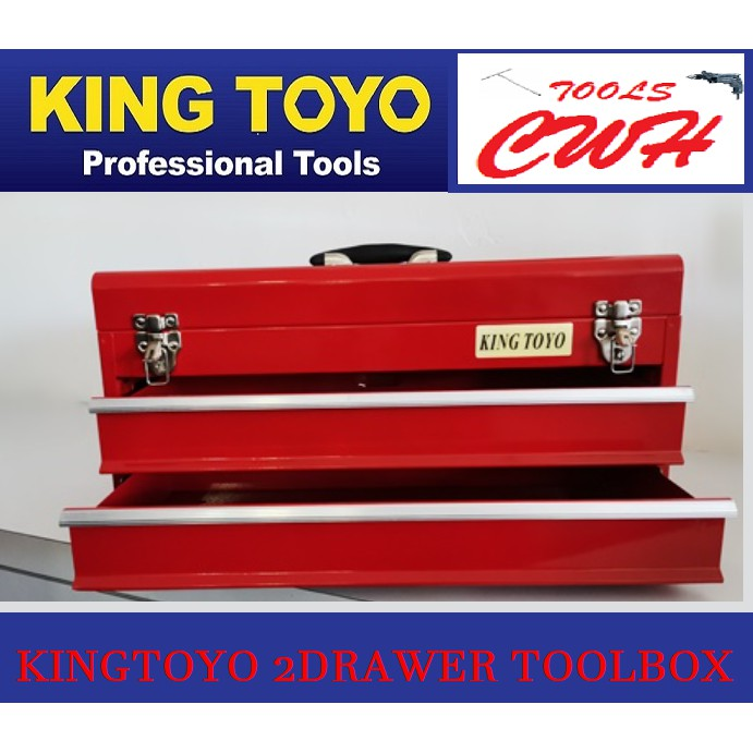 King Toyo KT-XTB132 2 Drawers Toolbox TOOL BOX