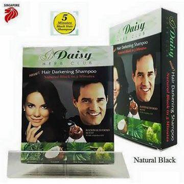 Daisy Herb Hair Darkening Shampoo Black/Brown Set of 5 Box