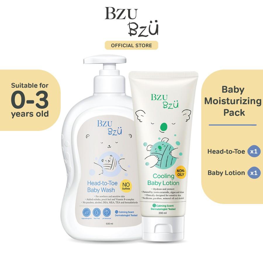 BZU BZU Baby Moisturizing Pack - Head to Toe Baby Wash (600ml) + Baby Lotion (200ml)
