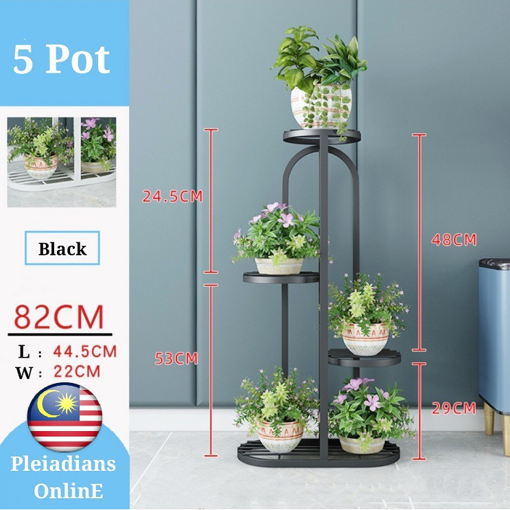 [ READY STOCK ]  Wrought Iron Flower Stand Shelf Room Ferabut Steel Rack Bunga Furniture Simpanan Perabut Jualan Murah