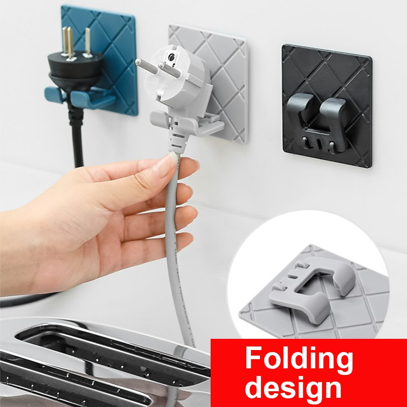 2PC KItchen bathroom Folding design Wall Storage Hook ...