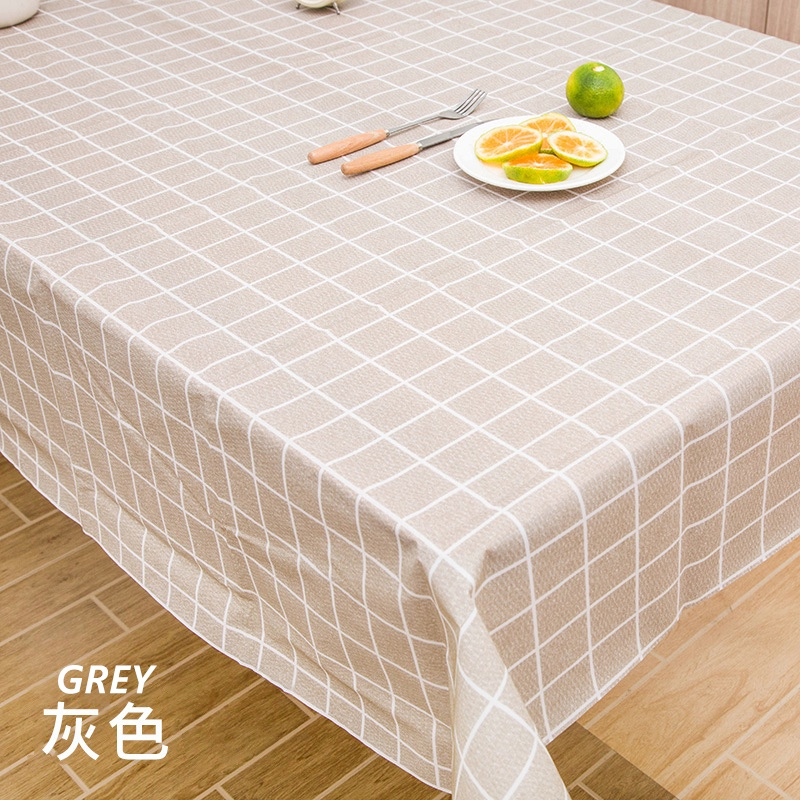GDeal Minimalist Style Colour Simple And Fresh Lattice Pattern WaterproofDining Table Cloth