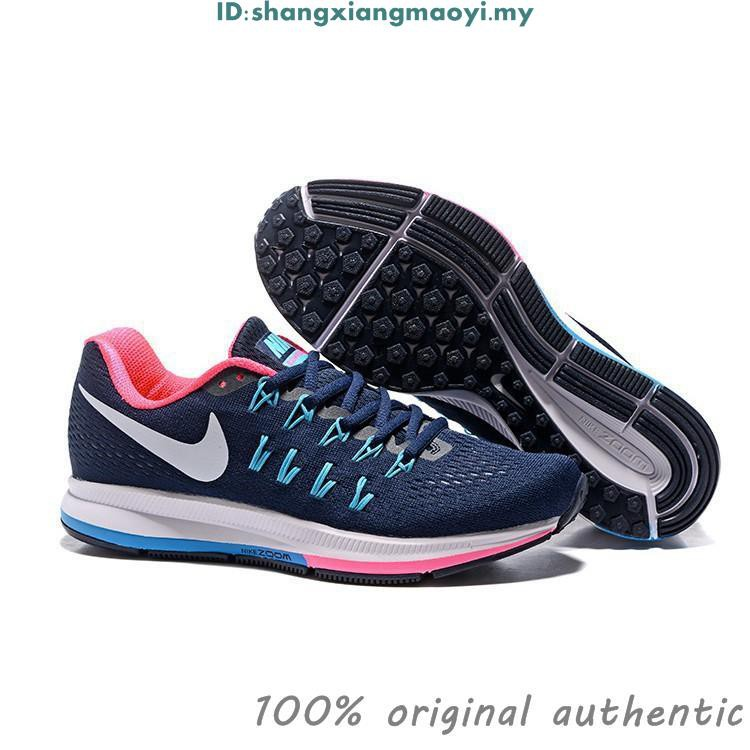 on sale df6b6 e6f85 Original NIKE AIR ZOOM PEGASUS 33 Running Shoes Men Women DIAMOND BLUE PINK