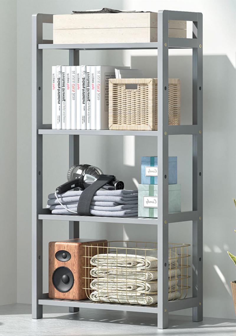 GDeal Four Layer Multifunction Bamboo Shelf Home Storage Rack Organizer Rak Serbaguna