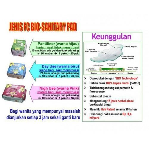 FC Bio Sanitary Pads (Panty Liner) 20pads