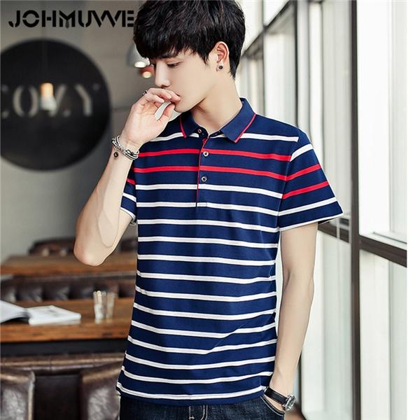 Howme Men Summer Casual Basic Cotton Cozy Short Sleeve Wild Polo Shirts