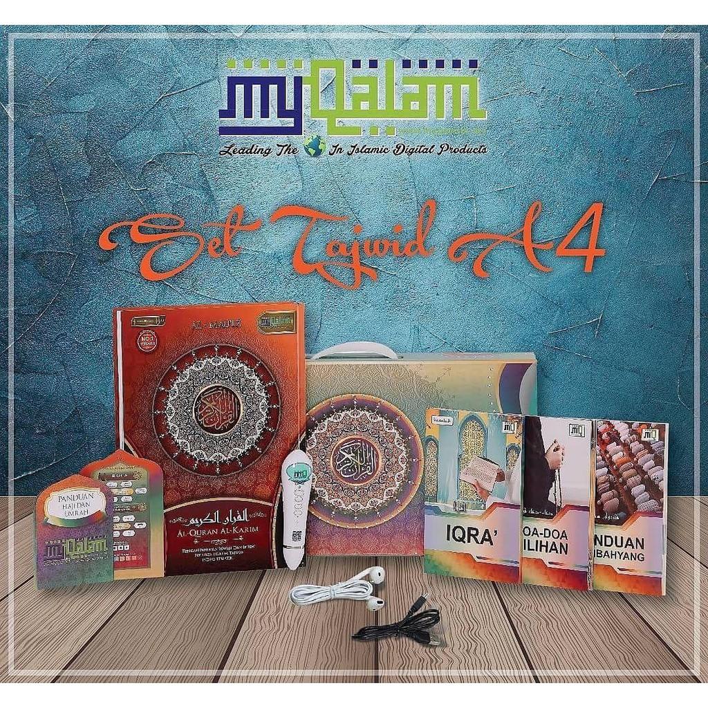 My Qalam Wakaf Ibtida Al-Mau'Iz Tajwid Al Quran Digital Elite My Qalam A4 CJ WOWSHOP Quran Combo Set Emmemarina