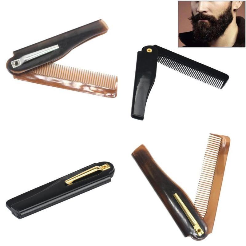 Beard Comb Folding Beard Handmade Brush Kit Men Beauty Tools