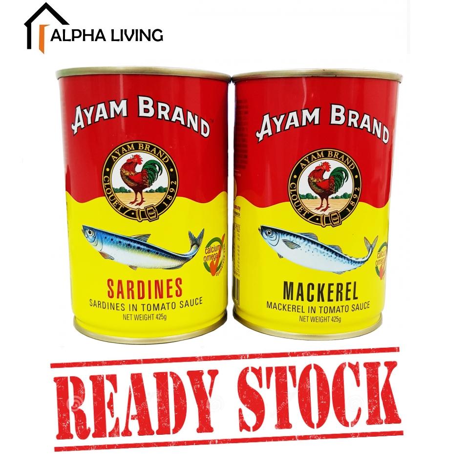 EXP 11/2023 AYAM BRAND Sardines/Ikan Mackerel 300g