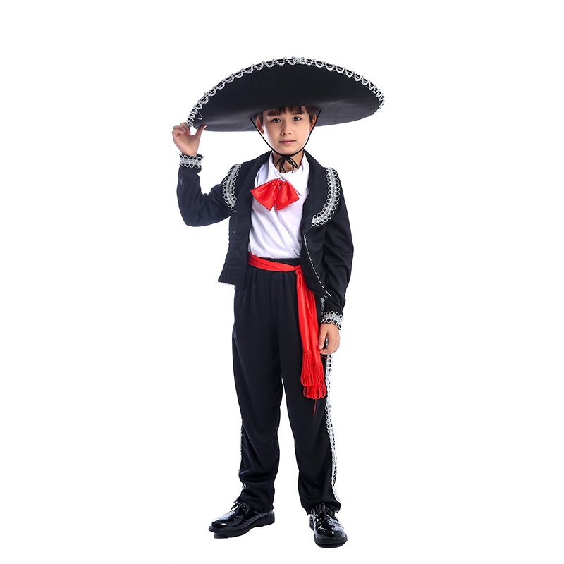 Baby Infant Mexican Mariachi Halloween Costume One-Piece Body-Suit T-Shirt