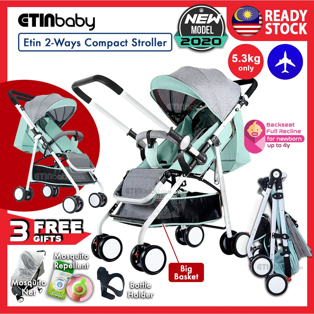 2 Way Stroller  Etin 2 Ways Compact Stroller Light Weight Cabin Size 2 Way Reversible Facing Parent Baby Stroller