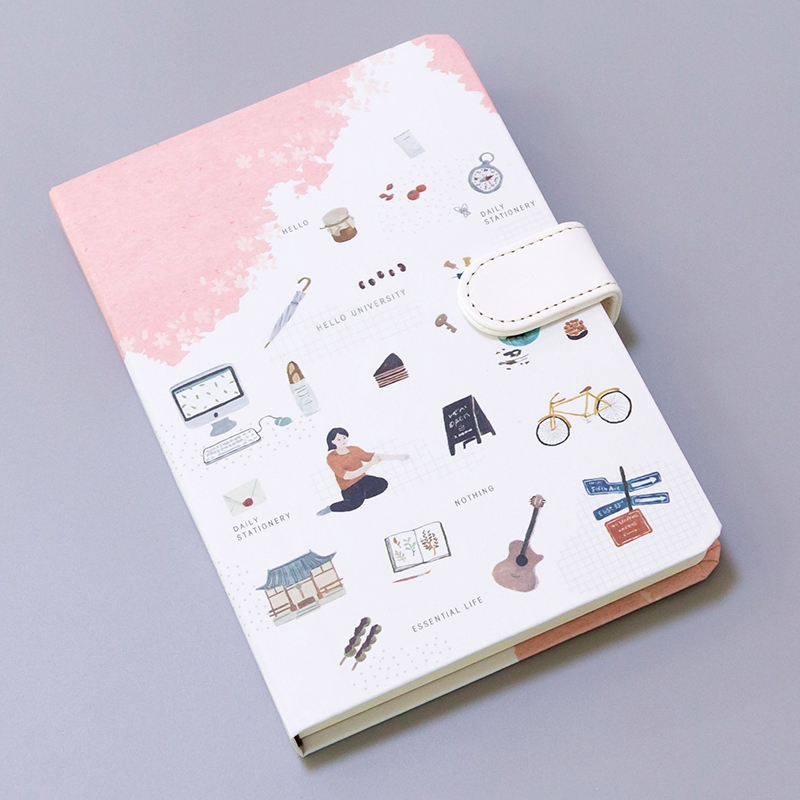 Diary Small Fresh Hand Book Magnetic Buckle This Creative