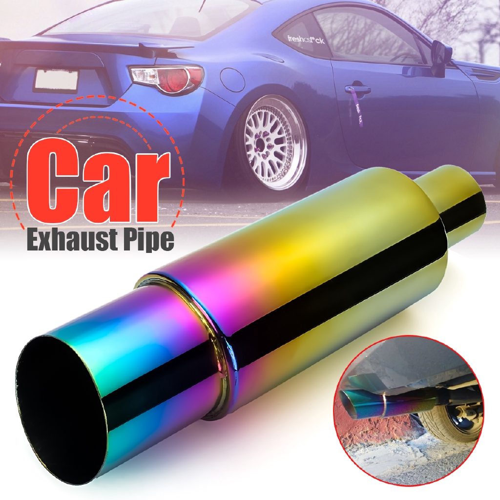 🏍HOT SALE🏍304 Stainless Steel Exhaust Pipe Racing Muffler Tip Car Exhaust  Pipe Replacement