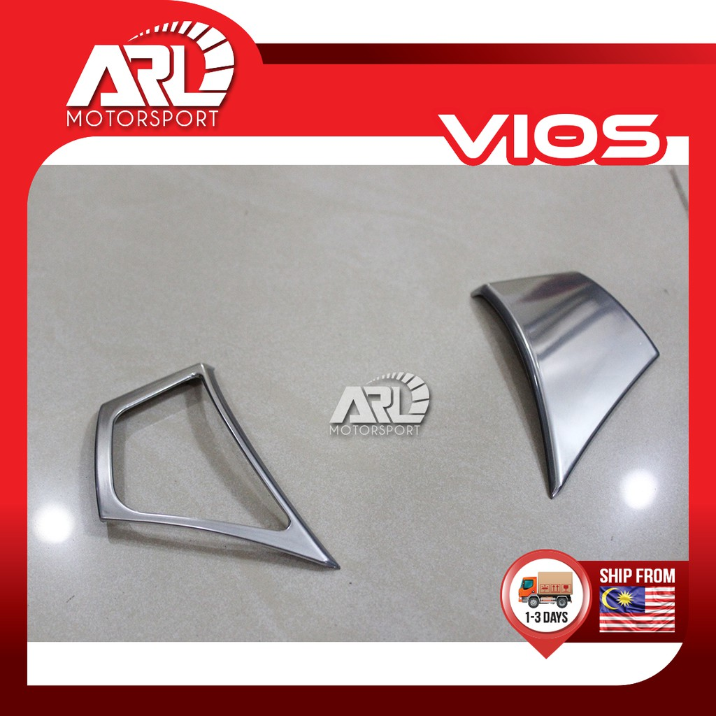 Toyota Vios (2013-2018) NCP150 Steering Switch Cover Lining Silver Car Auto Acccessories ARL Motorsport