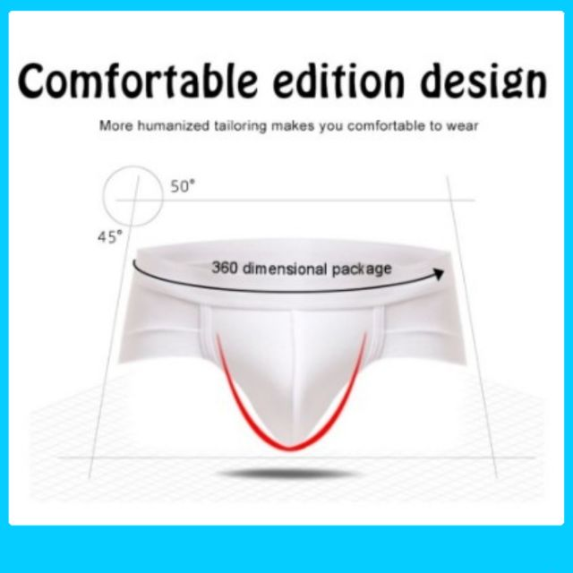 SET OF 4pcs Men Briefs Shorts Men's Sexy U Convex Underwear Men's Short Wear