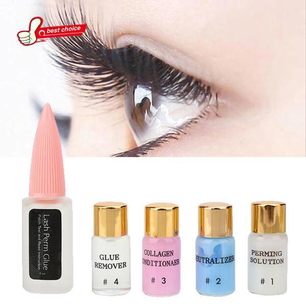 Eyelashes Extension Curling Diy Kit Eyelash Film Bamboo Stick Glue Makeup Set