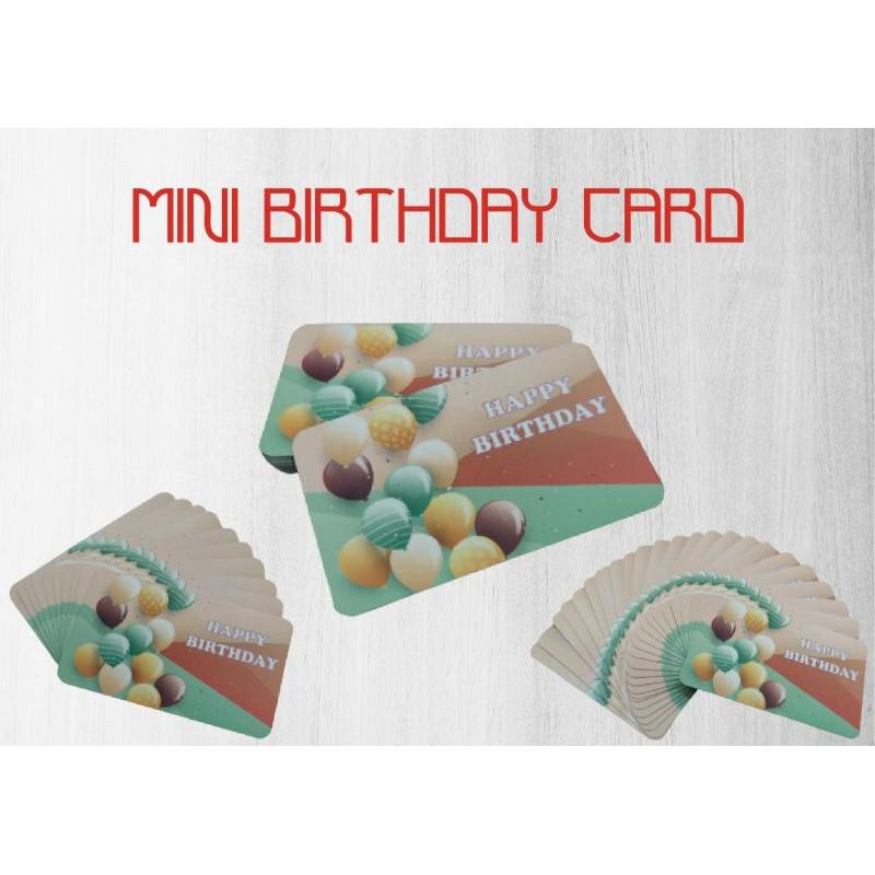 Mini Birthday Card 54mm x 90mm