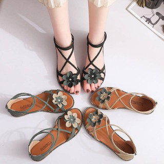 2017 New Summer Flowers Sandals Shoes Flat T1JFclK
