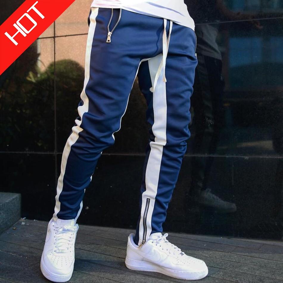 Men/'s Track Pants Sports Jogging Bottoms Joggers Patchwork Slim Fit Trousers 3XL
