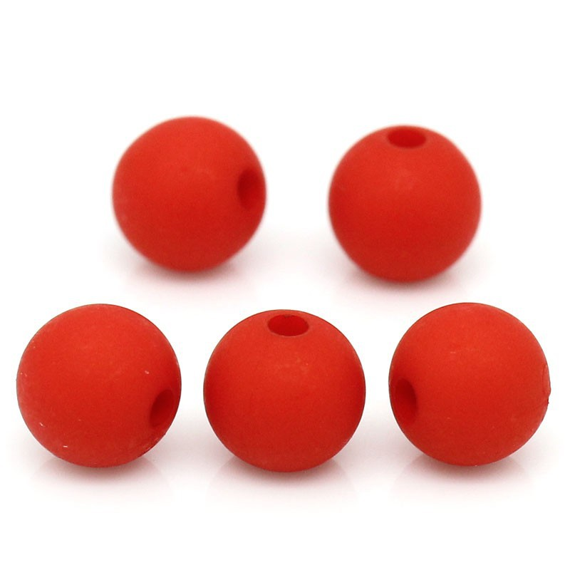 "Dia. 3//8/"" 300 New Acrylic Matte Red Round Ball Spacer Beads 8mm"