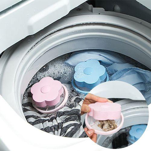 Reusable Washing Machine Floating Lint Mesh Trap Bag Catcher Filter Net Pouch