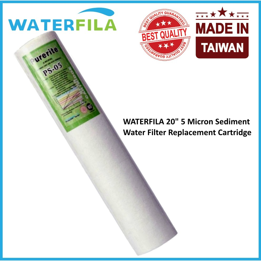 Waterfila 3 X 1 Micron 20 Pp Fiber Water Filter Replacement Nano Cartridge Air 10 03 U Mikron Shopee Malaysia