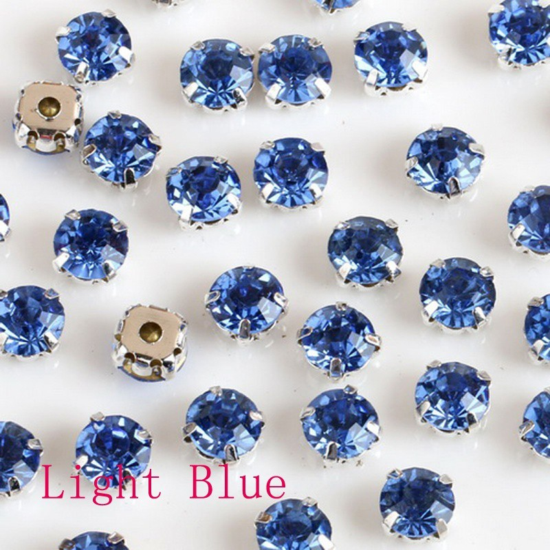 240pcs 4mm Crystal Glass Sew On Rhinestones With Silvery Claw DIY Clothing Acces