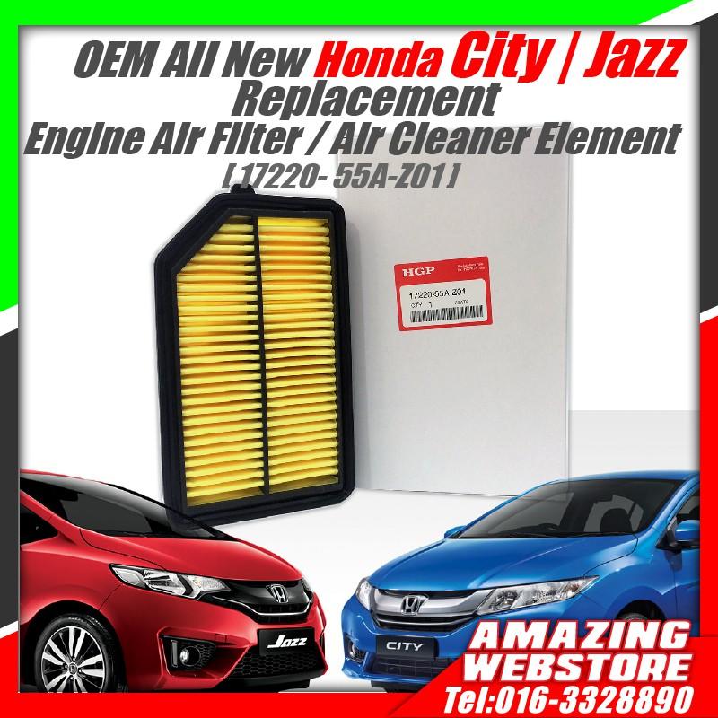 OEM HONDA All New CITY JAZZ 2014-2017 Engine Air Filter [ 17220-55A-Z01 ]