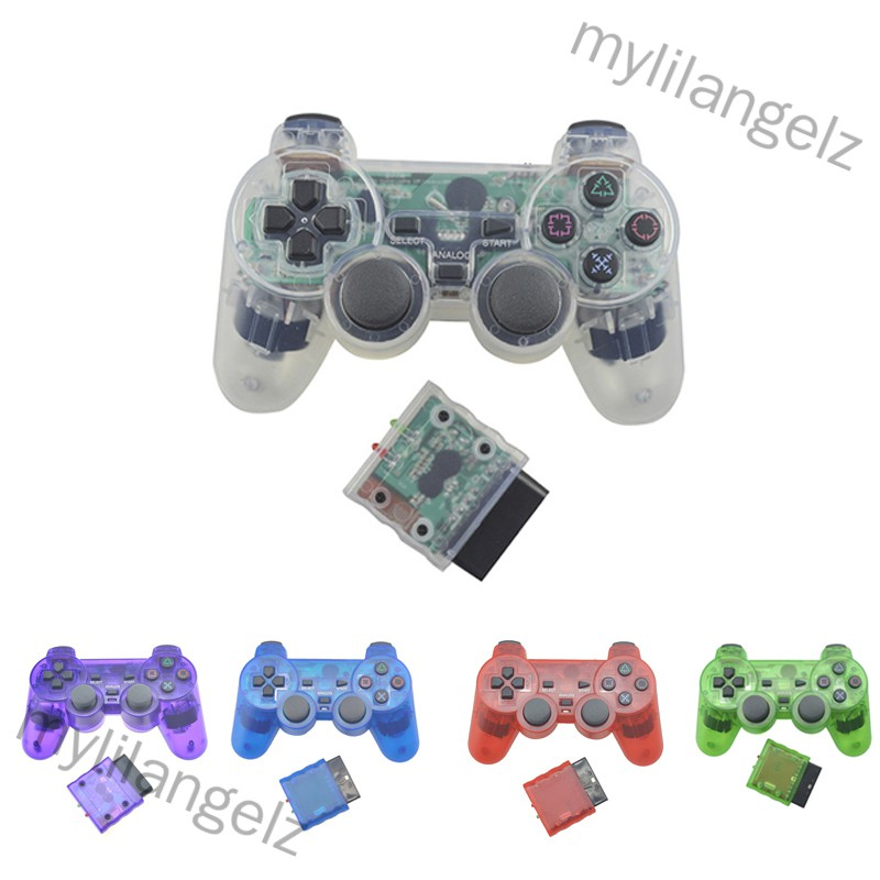 Mylilangelz Transparent Color Wireless Controller 2.4G Vibration Controle Gamepad for Sony  2