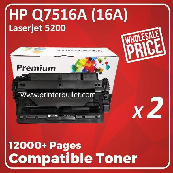 2 unit HP 7516 / Q7516A / 16A High Quality Compatible Toner Cartridge