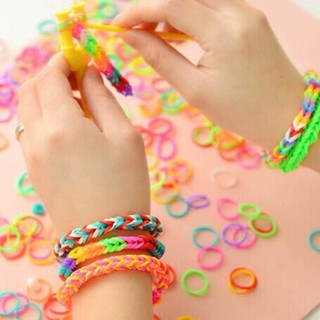 Hooks Tools Loom Band Bracelet Glow In Dark Children Diy Toy Boys Girl Kids