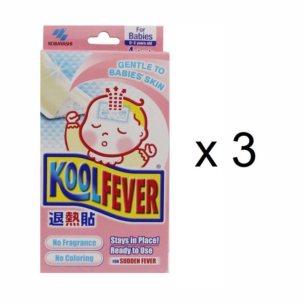 Koolfever Cooling Gel Sheet Baby (3 x 4pcs)