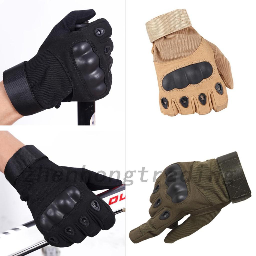 ถุงมือยุทธวิธีสีดำสำหรับ